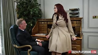 Alessandra Jane and Emma are having a 3some relative to their office, instead be beneficial to doing their job