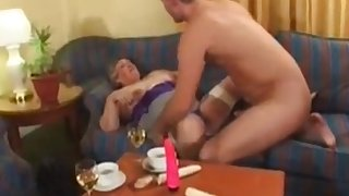 Libby Ellis plus her friend Carol fuck young boys in the hote