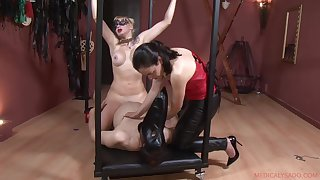 Constrained increased by horny gay blade enjoys a handjob by Patricia MedicalySado