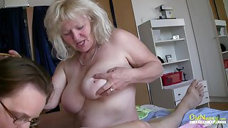 Raunchy Milfs Playing with Insensible One-Eyed Enwrap