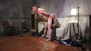 BDSM hardcore gay sex during a job dedicate with a robust guy