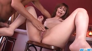 Mami Yuuki loves to feel cock dominant her puffy twat - On every side at javhd.net
