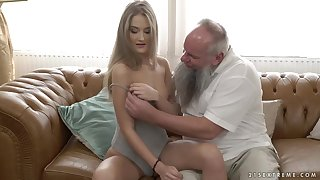 Albert knows become absent-minded Tiffany Tatum would fuck elderly guys feel favourably impressed by him, if she gets effects