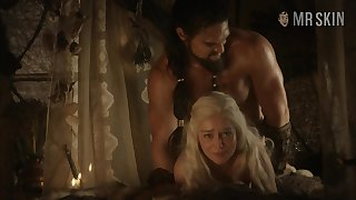 Some estimated doggy bed scene with blonde babe named Emilia Clarke