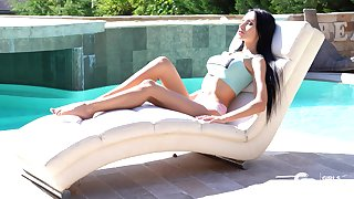 Anomalous rimming with slutty old hat modern Sasha Rose