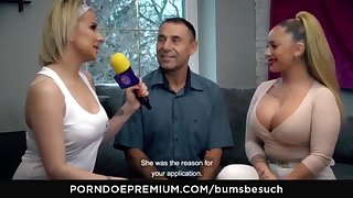 BOOTIES BESUCH - Huge-Chested German pornography starlet Dana Jayn tears apropos mature inexperienced fanboy