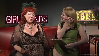 Mature lesbians Madison Young and Annie Sprinkle talk about sex