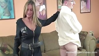 This is one naughty cop! She makes this guy line down and fuck her tight hole