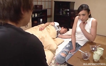 Good looking Japanese hottie loves his dick more than anything