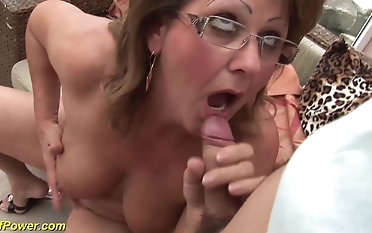 chubby perishable german milf enjoys rough sex on every side her young sweetheart