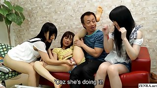 JAV amateur friend watches sexual intercourse party HD subtitled