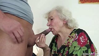 GERMAN ORDERLY Illegality GRANNIE JERK AND HELP WITH Daub
